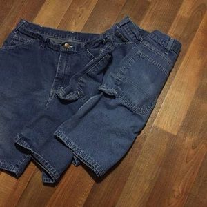 Dickies Shorts - Dickies men's size 32 cargo style jean shorts